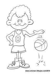 Dibujos de deportes para colorear; dibujos de nio botando