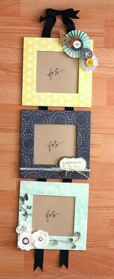 Picture frames! Would be ve