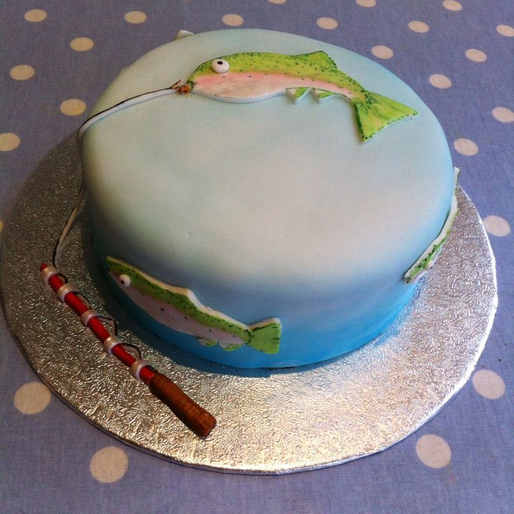 Fly Fishing Cake Rainbow Trout Boy Cakes Pinterest