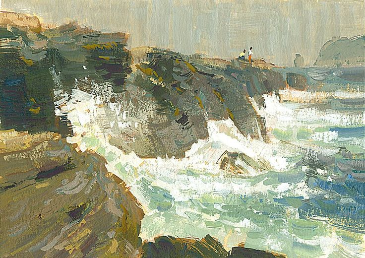 Mike Hernandez Limited palette from Laguna Cliffs 5x7