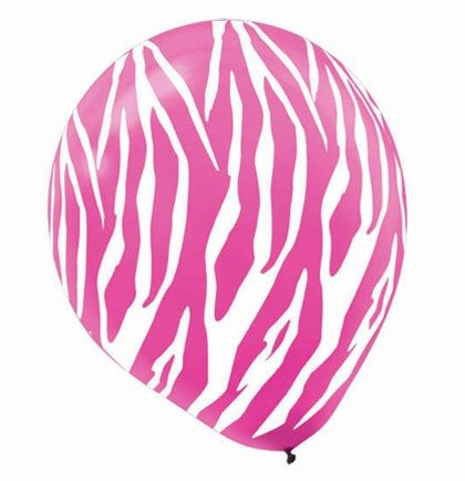 pink animal print party balloons