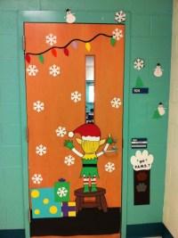 Heaps of different Christmas Door decorations   Classroom ...