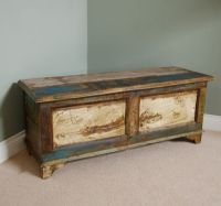 The Parkham Storage Chest | Unusual Antique Rustic Painted ...