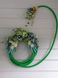 25+ best ideas about Garden Hose Wreath on Pinterest