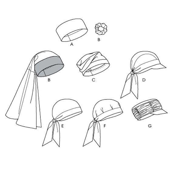 Turban Head Wrap Hats Caps Sewing Pattern Uncut McCalls