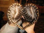 bff heart braid hair