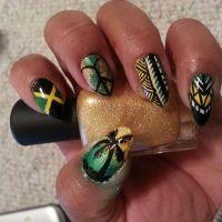 jamaica nails. jamaica nail art. vacation nails. vacation ...