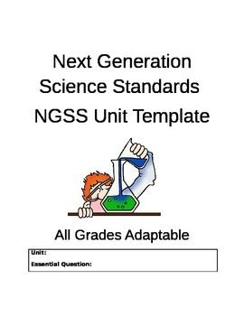 NGSS Unit Template for Lesson Planning *EASY TO USE* All