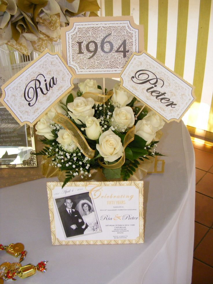 25 best ideas about 50th Anniversary Centerpieces on Pinterest  Anniversary party centerpieces