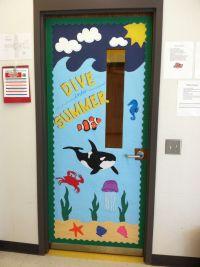 Ocean Beach themed classroom door | Pre-k classroom door ...