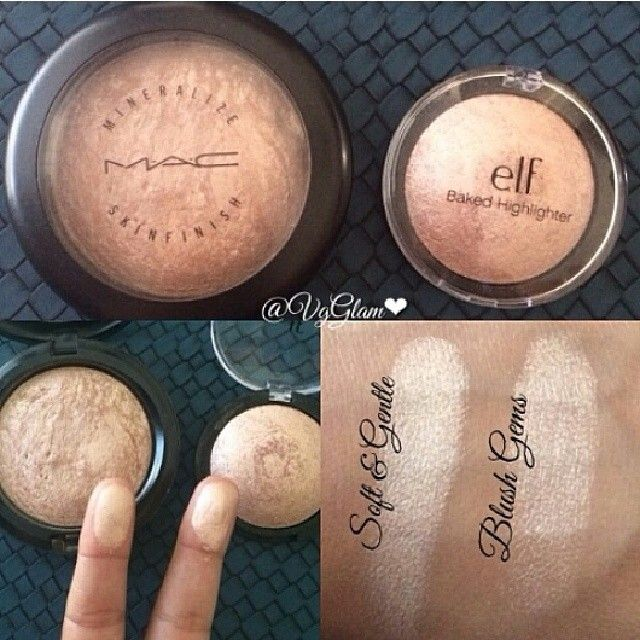 "DUPE ALERT!! Very affordable dupe for MAC Cosmetics ""Soft and Gentle"" is Elf Cos"