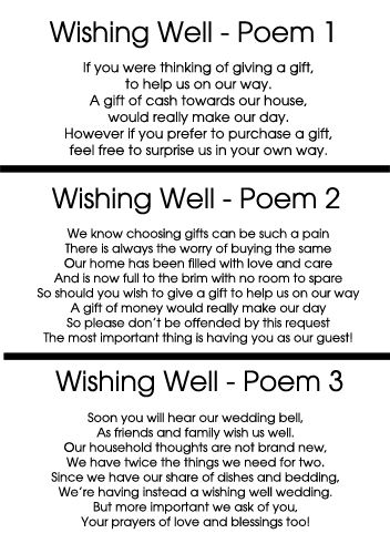 25 Best Ideas About Wishing Well Wedding On Pinterest Wishing Well Poems Wedding Card