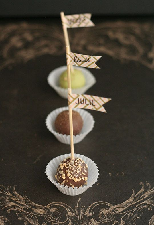Edible Place Cards Place A Toothpick Pennant With Each