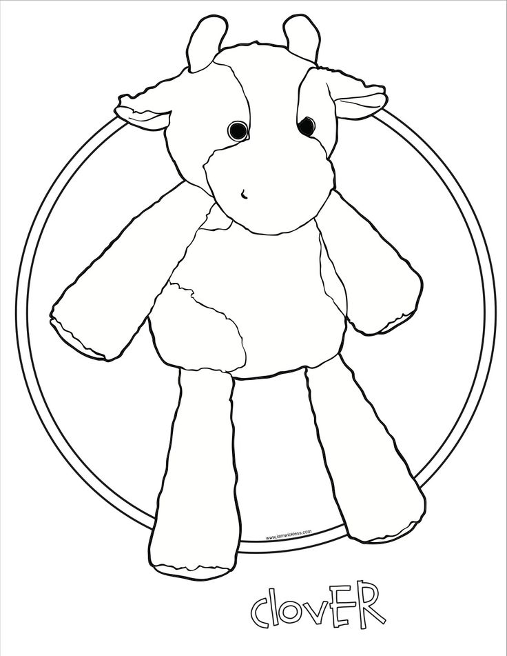 Clover the Cow Scentsy Buddy coloring page. #Scentsy #