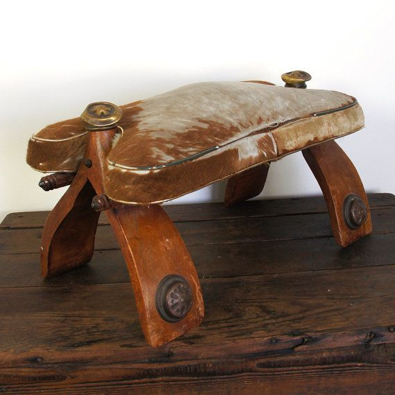 Footstool  Antique Camel Saddle  African  Tribal