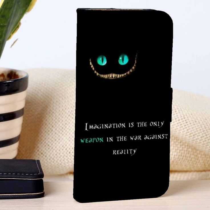 Cheshire Cat Quotes Disney Custom Wallet Case For Iphone 44s 5 5s 5c 6 6plus Case And