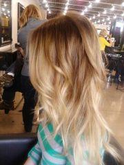 blonde dip dye.close color