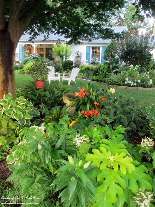 front yard shade garden cool