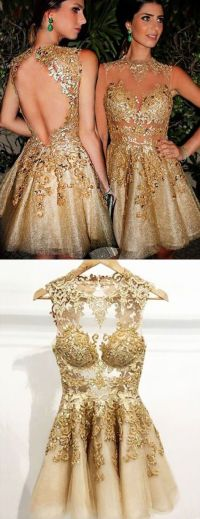 25+ best ideas about Gold homecoming dresses on Pinterest ...