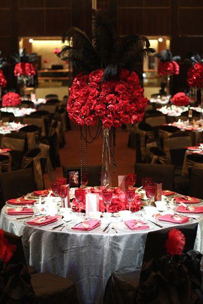 vegas theme wedding decorations  Vegasthemed wedding by