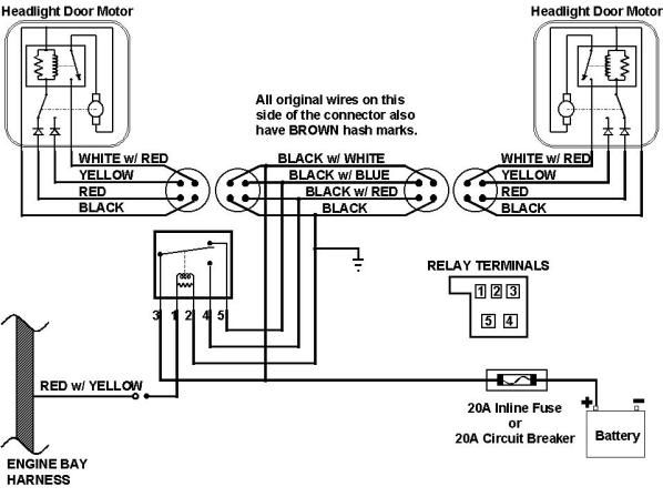 1968 camaro wiring diagram online 1969 johnson 115 67 headlight harness schematic | this is the 1967 diagram. ...