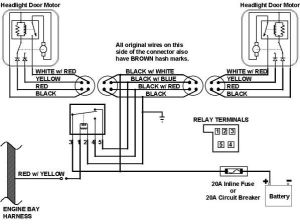 67 Camaro headlight Wiring Harness Schematic | This is the