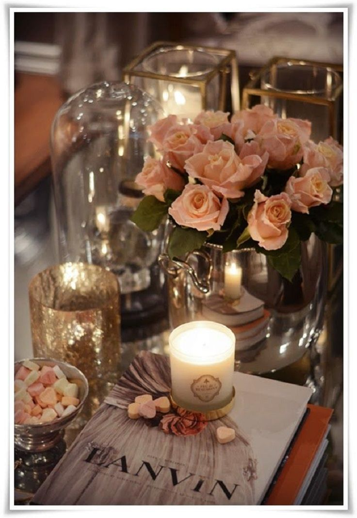 Top 10 Best Coffee Table Decor Ideas: Every real lady has or dreams for a feminine coffee table like this. It looks completely