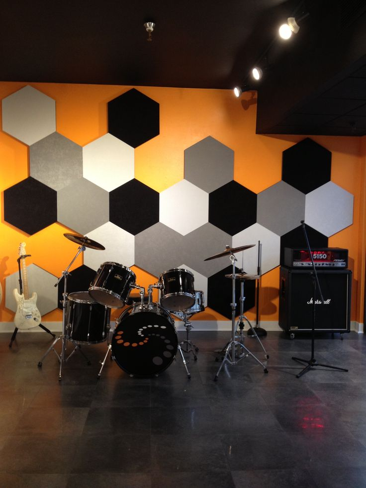 A great solution for a music room wall or just decorative Vicoustic acoustic panels shown at