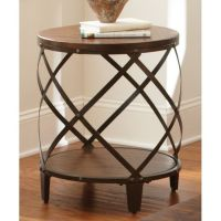 Greyson Living Windham Solid Birch/ Iron Round End Table ...