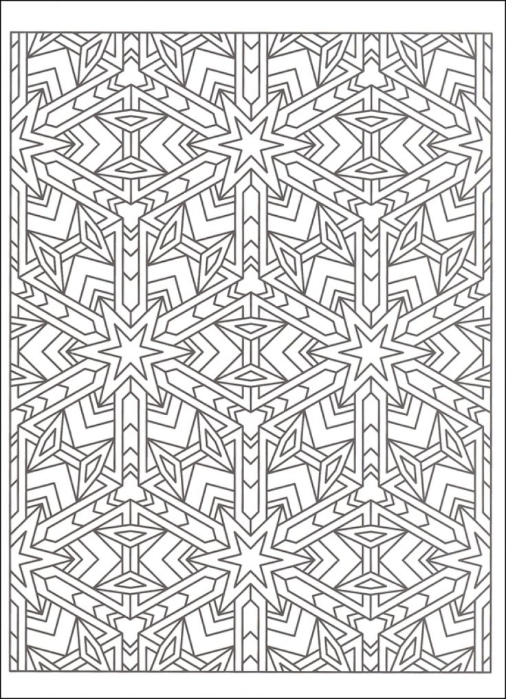 Free Tessellation Coloring Page To Print Out Abstract