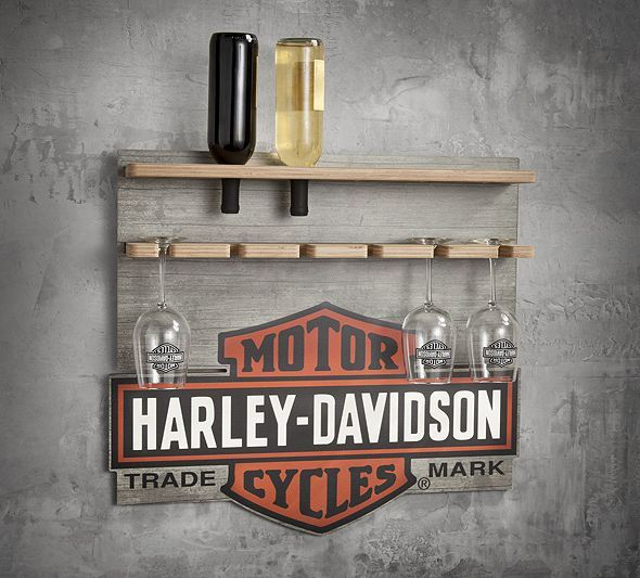 shop world kitchen coupons rustic cabinets wooden wine rack display | harley-davidson gifts for ...