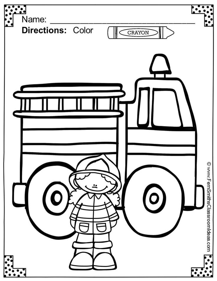 28 best images about Kids: firefighter coloring pages on