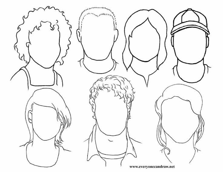 portrait practice for guide lines of the face. Have
