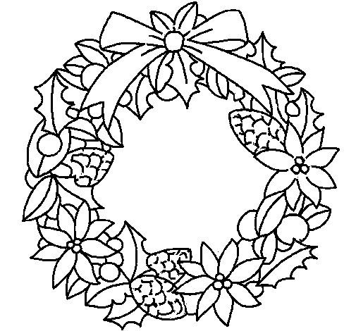 17 Best images about Coloring: Wreaths on Pinterest