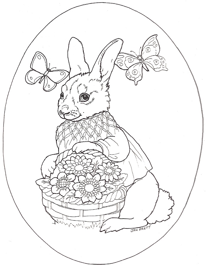 Transmissionpress Rabbit And Easter Egg Coloring Pages