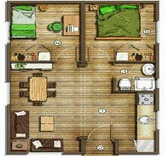 Ms de 25 ideas increbles sobre Planos De Casas Pequeas que te gustarn en Pinterest  Planos de viviendas diminutas