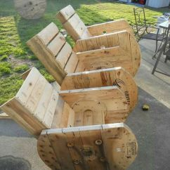 Lawn Chair With Shade Red Leather Wing Recliner Lastpallar Och Kabeltrumma | Återbruka Pinterest