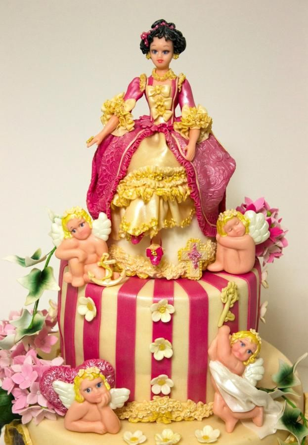1000 Images About Doll S Cake On Pinterest Tinkerbell