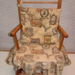 Wooden Rocking Chair Cushion Set Kids Beach Vintage Childs Rocker With Fabric Cushion. Have This Different ...