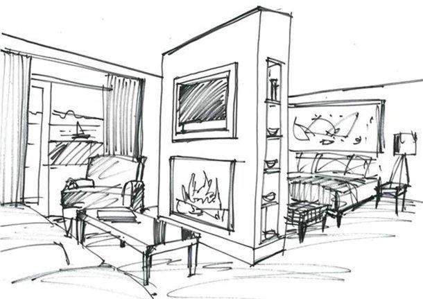 25+ best ideas about Interior design sketches on Pinterest