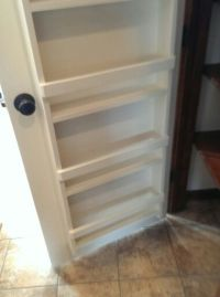 Spice rack built on back of pantry door! | Give me a ...