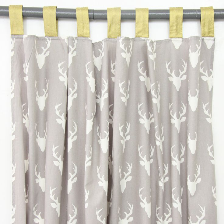 Curtain Panels  Woodland Deer set of 2  Baby boy