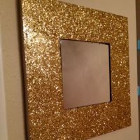 Mod Podge and Glitter on an old mirror | Glitter ...