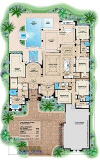 Mediterranean house plan for beach living | Ideas for the ...