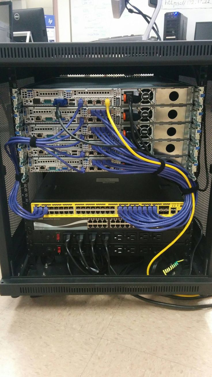 Mobile rack cabling  Minecraft server hosting and Cable