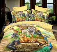 Colorful printing zoo animal bedding set 4pc for girls 100 ...