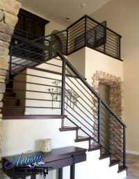 Modern Wrought Iron Stair Railings | Wrought Iron Railings ...