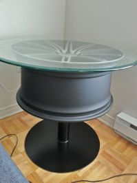 Coffee Table Out of a .... Car Wheel | Car wheels, Wheels ...