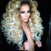 big hair style blonde brown highlights