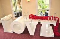 LOVE is in the air. Our new Love sweetheart table rental ...